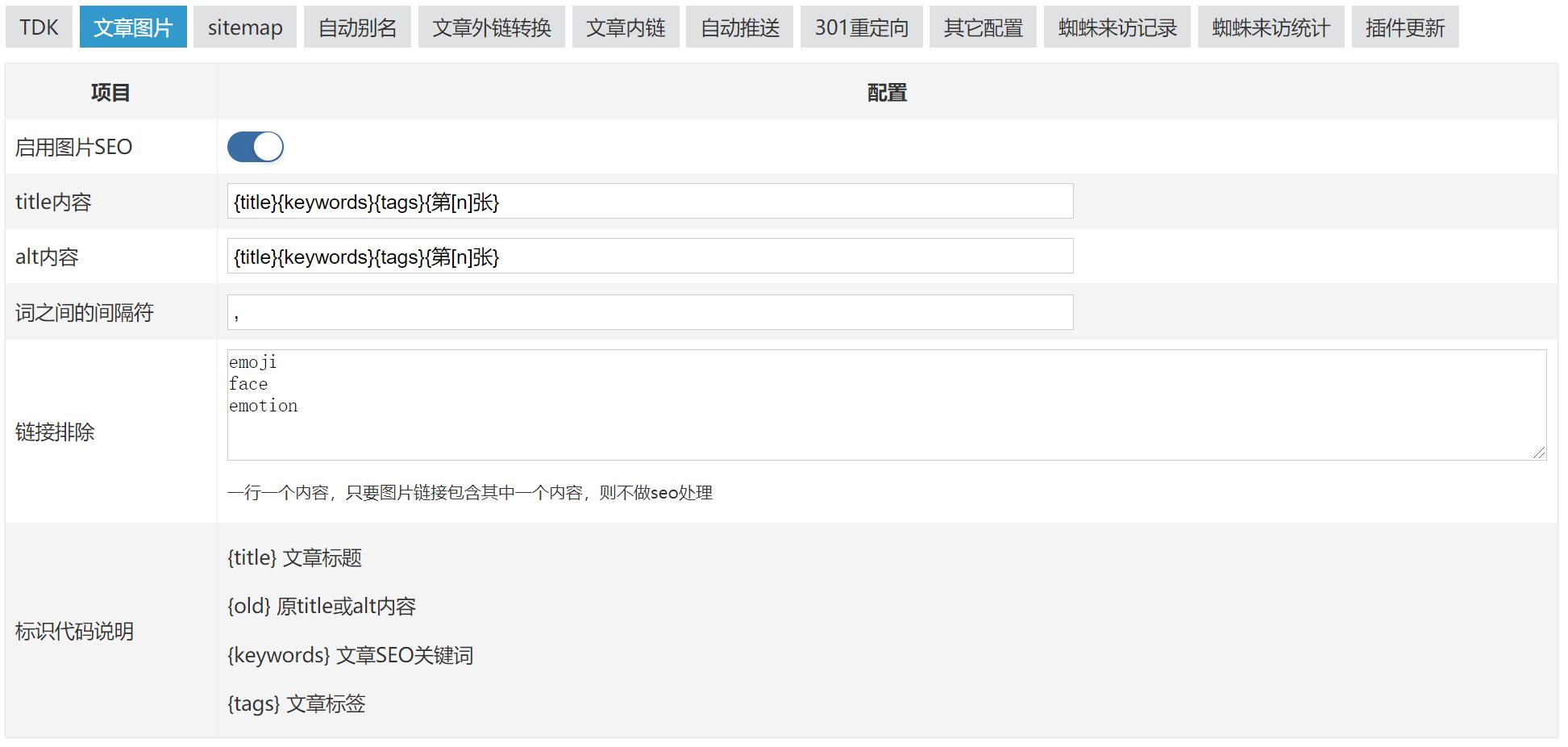 超级SEO插件,zblog,第7张